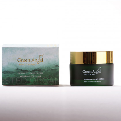 GREEN ANGEL rankų kremas SEAWEED, VITAMIN E & NEROLI 50 ml